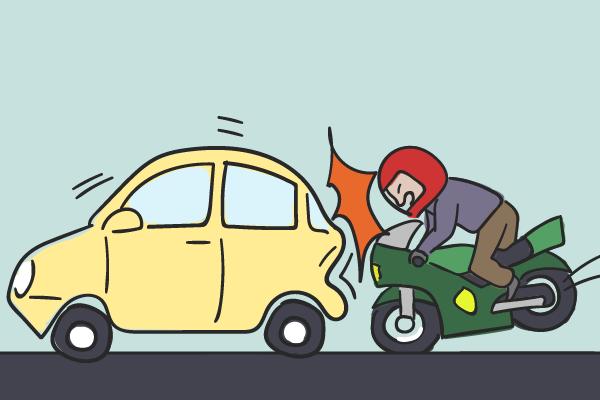 【バイク事故】対自動車の過失割合はどうなる?